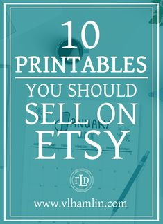 People love printable designs because they get instant gratification and there are so many printables you can sell on Etsy! Plus, Etsy makes it really easy to get started, too. Etsy Business, Craft Business, Creative Business, Business Tips, Online Business, Business Leaders, Business Branding, Crafts To Make And Sell, Make Money From Home