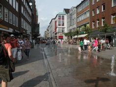 Editorial image of 'Pedestrian street in Lubeck, Germany'