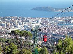 Téléphérique du Mont Faron, Toulon : Face à la mer !