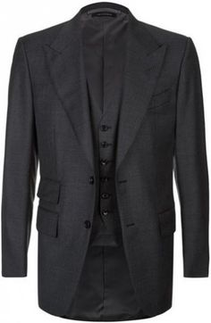 Tom Ford Windsor Three-Piece Suit in grey (in the movie the colour is black herringbone) #tomfordmen #three #piece #suits #james #bond