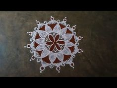 Rangoli Borders, Rangoli Border Designs, Rangoli Designs, Small Rangoli, Rangoli With Dots, Muggulu Dots, Free Hand Rangoli, Padi Kolam, Friday Morning