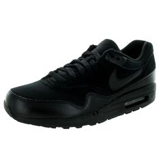 premium selection bd96f c7c0b Nike Men s Air Max 1 Essential Black Black Running Shoe