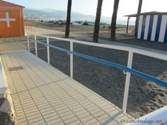 Ramps from promenade Lead The Way, Water Me, Seaside Towns, Malaga, Deck, Outdoor Decor, Home, Towers, Front Porches