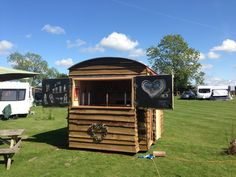 Bespoke mobile bar for country weddings / partys / anniversaries or any excuse for a good ol' fashioned knees up.   The concept as seen in the photos is for our customised hydraulic trailer to back up to the marquee poke through one of the removed panels spaces and open our doors delivering wonderful premium brand Alcoholic and non alcoholic drinks. We have draft beer, lager, cask and cider as well as bottled beverages and wines.  #yorkshire #mobile #bar #wedding…