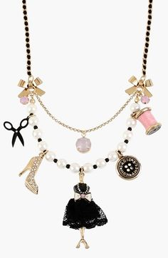 Betsey Johnson 'Paris' Dress Form Pendant Necklace available at #Nordstrom