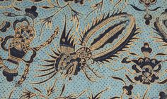 Asian Art Museum | Batik cotton with gold leaf. Late 1800s, Indonesia; Java. Lent by Joan and M. Glenn Vinson, Jr.