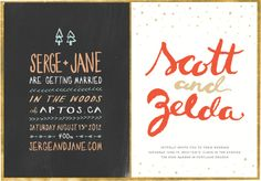 Working on some wedding invites...