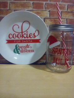 Hey, I found this really awesome Etsy listing at https://www.etsy.com/listing/450165474/cookies-for-santa-plate-and-santa-milk