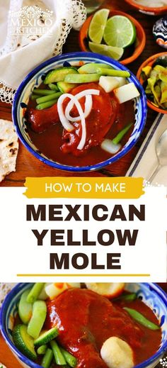 Mole Amarillo or Oaxacan Yellow Mole, one of the most popular Moles in Oaxaca. It can be made with pork or chicken, and also be used as an empanada filling. Pickled White Onions, All Spice Berries, Real Mexican Food, Mexican Chicken Recipes, Empanada, Vegetarian Options, Chicken Fajitas, Kitchen Recipes, Oaxaca