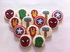 Super heróis Cookies nu Vanilla Art Cookies