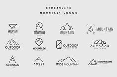 Streamline Mountain Logos by lovepower on @creativemarket