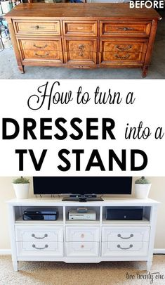 GREAT Step By Step Tutorial On How To Turn An Old Dresser Into A