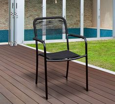 Pimenta Rectangular Dining Table with Garey Rope Dining Armchair Set Patio Dining Chairs, Dining Arm Chair, Outdoor Dining, Outdoor Chairs, Dining Table, Outdoor Decor, Dining Set, Dining Room, Aluminum Patio