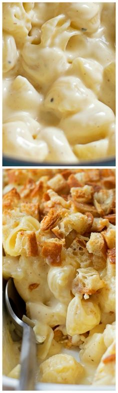 Outrageous Macaroni and Cheese ~ Creamy, gooey and topped with giant bread crumbs... Making your own has never been easier!