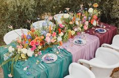color block tablescape