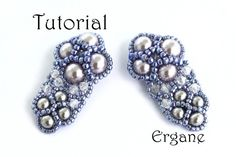 Very elegant and shiny earrings. This earrings looks great with pearls (you can use also Fire Polish) and sparkly bicone beads. It's perfect for