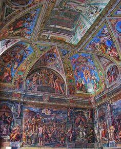ROMA  Musei Vaticani-Sala di Costantino (Raffaello e aiuti)
