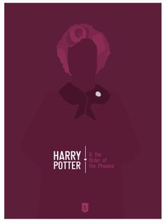 Harry Potter and the Order of the Phoenix (2007) ~ Minimal Movie Poster by Hexagonall ~ Harry Potter Series