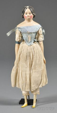 Papier-mache Milliner's Model-type Doll | Sale Number 2558M, Lot Number 382 | Skinner Auctioneers