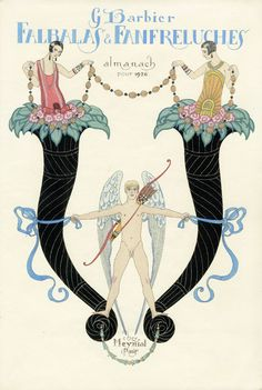 """Illustration for """"Falbalas & Fanfreluches. Almanach pour Art by French artist George Barbier Art Deco Illustration, Vintage Illustrations, Fashion Illustrations, Art Vintage, Vintage Posters, Vintage Ephemera, Art Deco Fashion, Fashion Prints, Art Nouveau"""