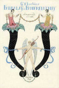 Georges Barbier Pochoir Fashion Prints 1922