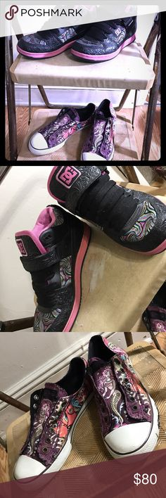 DC & Ed Hardy Sneakers D.C. Vintage limited addition sneakers never worn... ed hardy classic mermaids lightly worn DC Shoes Sneakers