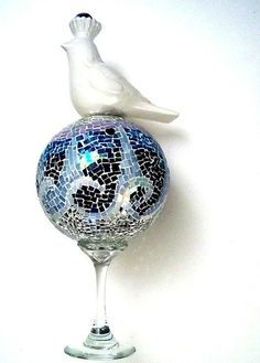 "Mosaic Sculpture - 15 inches - ""Coasting On The Wings Of Tomorrow"" - FREE SHIPPING Within US"