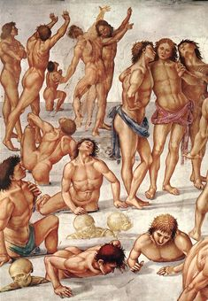 Luca signorelli, cappella di san brizio, resurrezione dei corpi  - Cappella di San Brizio - Dettaglio