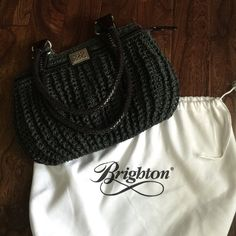 ❤️Genuine Brighton❤️ black woven shoulder bag Genuine Brighton black woven shoulder bag with patent leather accents. Silver hardware. No rips, tears or stains. Only used a couple times. Great condition. Smoke free home. Brighton Bags Shoulder Bags
