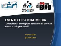 Gestire Eventi coi Social Media - le basi