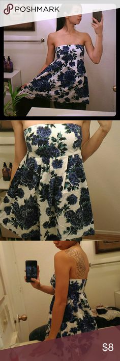 Forever 21 Floral Dress ~ Gently Used; Worn Only Once. ~ Missing Belt; Has Two Belt Loops. ~ 100% Cotton. Forever 21 Dresses Strapless