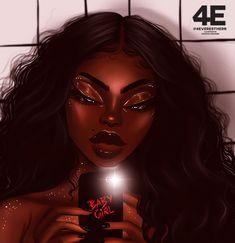 (Advice) Lessons learned this far dating as a black girl Black Love Art, Black Girl Art, Art Girl, Black Art Painting, Black Artwork, Drawings Of Black Girls, Natural Hair Art, Black Girl Cartoon, Black Art Pictures