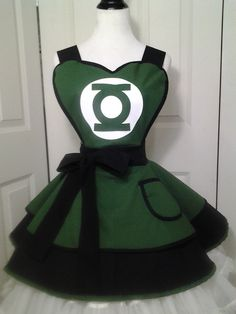 Green Lantern Cosplay Retro Pin Up Apron by PandorasProductions, $59.99
