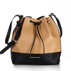 Perfect Michael Kors Jules Color-Block Leather Small Apricot Shoulder Bags, Perfect You