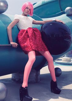 A beautiful editorial called Bubblicious for Sept.2006 of W magazine shot by Craig McDean with beautiful Natalia Vodianova