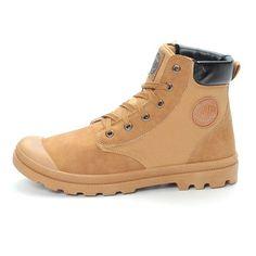 Men Canvas Splicing Cap-toes High Top Wear Resistant Sport Casual Boots