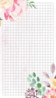 💕 Delicate pages for notebook - Liesel Palitzsch - Grid Wallpaper, Flower Background Wallpaper, Flower Backgrounds, Aesthetic Iphone Wallpaper, Aesthetic Wallpapers, Wallpaper Backgrounds, Planner Pages, Printable Planner, Printables