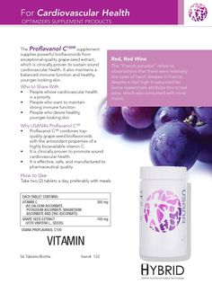 Usana Proflavanol C100 Health And Nutrition, Health And Wellness, Health Care, Best Supplements, Nutritional Supplements, Usana Vitamins, Wellness Industry, True Health, Grape Seed Extract