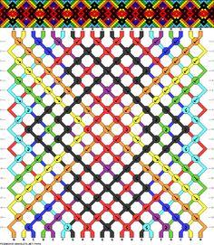 Rainbow, diamonds, dots, and squares. #74454 - friendship-bracelets.net