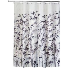 Refresh your master bath or powder room with this stylish shower curtain, showcasing a floral motif.Product: Shower curtain