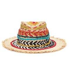 Etro - Embroidered straw hat - This vibrant, patterned straw hat from Etro channels the brand's bohemian-inspiredvibe. Decorated with embroidery, this piece features slightly fringed brims. Wear yours with long lightweight dresses. seen @ www.mytheresa.com