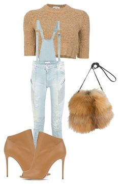 """""""Untitled #324"""" by jazz-mccall on Polyvore featuring Carven, Pierre Balmain, Casadei and Overland Sheepskin Co."""