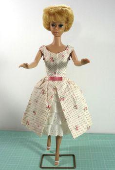 Midge Barbie Doll 1962 Bubble Cut Ginger Blonde Bubblegum Lips Garden Party #931 #Mattel #DollswithClothingAccessories