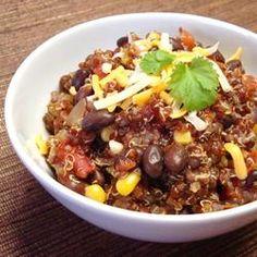 Quinoa com feijão preto