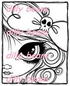 430-skull+bow+framed.jpg (401×494)