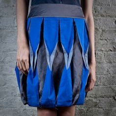 Origami Fashion - creative sewing inspiration; fabric manipulation for fashion design - bold origami skirt