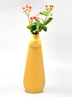 This vase is a bottle found on a street in Holland and recast in porcelain.  Pretty cool.