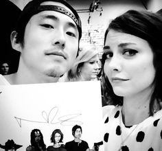 STEVEN AND LAUREN WITH NORMAN'S AUTOGRAPH