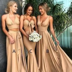Custom Made Morden Sequin Bridesmaid Dress Sexy Mismatched Side Slit Long Gold Bridesmaid Dresses, Champagne Bridesmaid Dresses, Modest Bridesmaid Dresses, A Line Prom Dresses, Wedding Party Dresses, Sexy Dresses, Sequin Bridesmaid, Long Dresses, Bridesmaid Outfit, Party Gowns