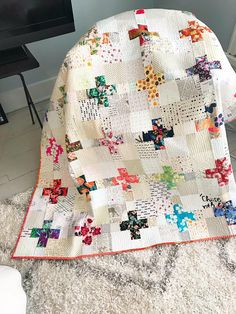 Scrappy Plus Block Lap Quilt